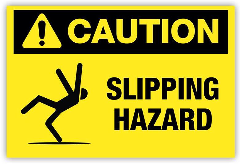 anti slip caution